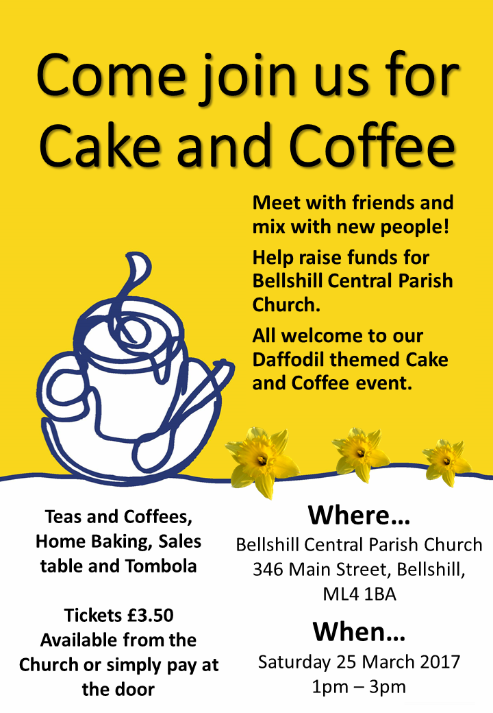 Come join us for Cake and Coffee