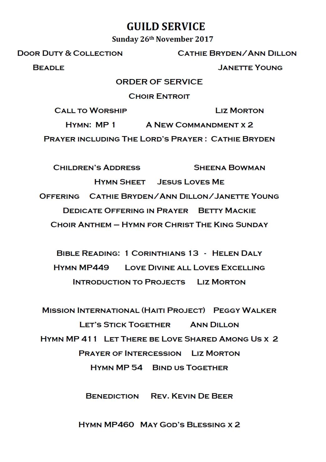 guild service 26 11 17