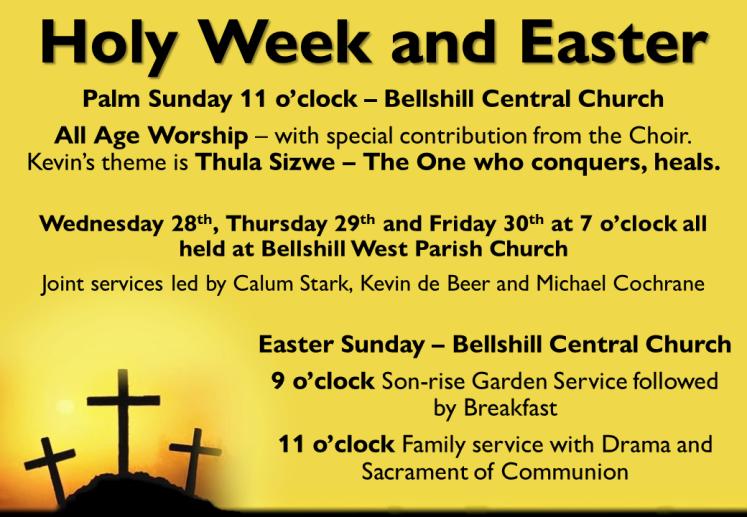easter holy week 2018