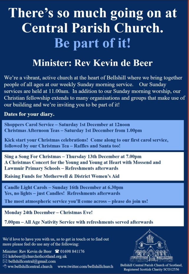 Our December programme